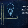 Stock Photo: Keep your business values precise and clear