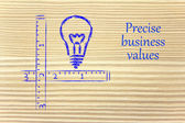Keep your business values precise and clear — ストック写真