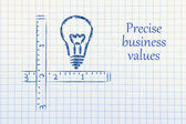 Keep your business values precise and clear — 图库照片