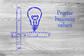 Keep your business values precise and clear — Stockfoto