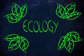 Ecología y la economía verde — Foto de Stock