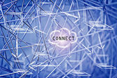 Networks, internet connections & data sharing — Stok fotoğraf