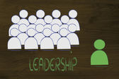 Leadership, management and individualism — Stockfoto