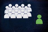 Leadership, management and individualism — Stock Photo