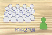 Leadership, management and individualism — Stock Photo