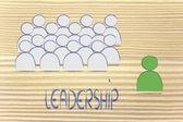 Leadership, management and individualism — Fotografia Stock