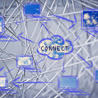 Networks, internet connections & data sharing — Stock Photo