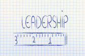 Measure your leadership — Stock Photo