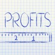 Measure your profits — Stockfoto