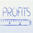 Measure your profits — Foto de Stock