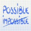 Beat the impossible — Foto Stock