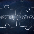 Stock Photo: Marketing & customers, jigsaw puzzle design