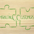 Stock Photo: Marketing and customers,jigsaw puzzle design