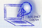 New kind of business, the internet dream — Foto de Stock