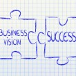 Stock Photo: Business vision & success,jigsaw puzzle design