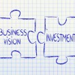 Business vision and investments,jigsaw puzzle design — 图库照片