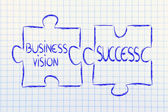Business vision & success,jigsaw puzzle design — Stock Photo