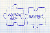 Business vision and investments,jigsaw puzzle design — Stock Photo