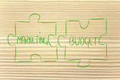 Marketing & budget,jigsaw puzzle design — Stock Photo