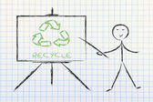 Learn about recycling — Stock Photo