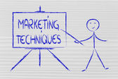 Learn about marketing techniques — Stock Photo