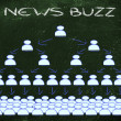 Online communication: news buzz and social networking — Stock Photo