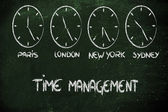 Time and project management for the global business — Stock Photo
