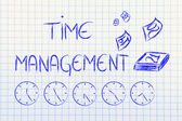 Time and project management for the global business — Foto Stock