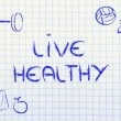 Stock Photo: Live healthy and fit life