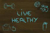 Viver uma vida saudável e apto — Fotografia Stock