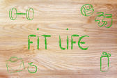 Live a healthy and fit life — Stockfoto