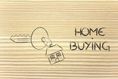 Real estate market, home buying and selling — Stock Photo