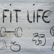 Live a healthy and fit life — Photo