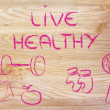 Live a healthy and fit life — Stock Photo