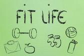 Sağlıklı ve formda bir hayat yaşamak — Stok fotoğraf