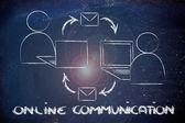 Online internet-based communication — Stockfoto