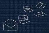Internet-säkerhet och riskerna för konfidentiell information — Stockfoto