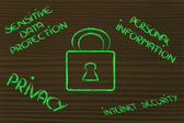 Internet security and lock — Stockfoto