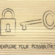 Unlock your potential — Stok Fotoğraf #39788021