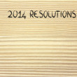 Empty list of new year's resolutions and goals — Stock Photo #40018617