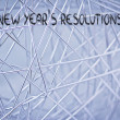 Empty list of new year's resolutions and goals — Stock Photo #40021279