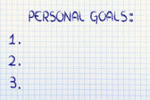 Empty list of personal resolutions and self improvement goals — Stock Photo