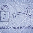 Unlock your potential — Foto Stock #40092361