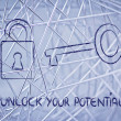 Unlock your potential — Stockfoto #40092361