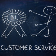 图库照片: Number one customer service