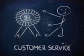Number one customer service — Stock Photo