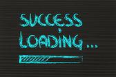 Progress bar with success loading — Stock Photo