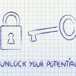 Stock Photo: Unlock your potential