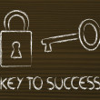 Stock Photo: Find key to success, key and lock design