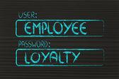 User Employee, password Loyalty — Stock Photo